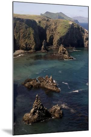Cathedral Cove on Anacapa Island in Channel Islands National Park-Phil Schermeister-Mounted Photographic Print