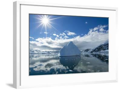 Reflections of Icebergs on Water in Niko Harbor, Antarctica-Ralph Lee Hopkins-Framed Photographic Print
