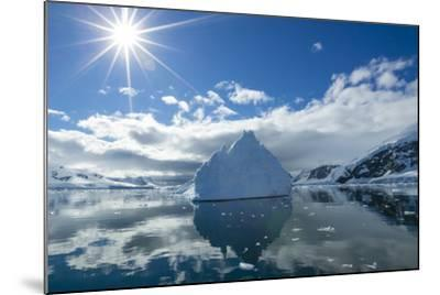 Reflections of Icebergs on Water in Niko Harbor, Antarctica-Ralph Lee Hopkins-Mounted Photographic Print