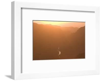 The Gunnison River Winds Through a Canyon from the South Rim of Black Canyon-Phil Schermeister-Framed Photographic Print