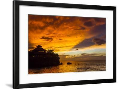 A Fiery Sky During a Dramatic Sunset in Ocho Rios, Jamaica-Mike Theiss-Framed Photographic Print