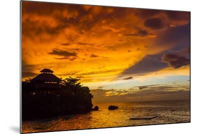 A Fiery Sky During a Dramatic Sunset in Ocho Rios, Jamaica-Mike Theiss-Mounted Photographic Print