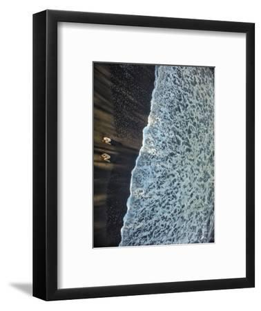 Two Dancers in the Surf on a Remote Beach at Tortuguero National Park-Kike Calvo-Framed Premium Photographic Print