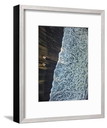 Two Dancers in the Surf on a Remote Beach at Tortuguero National Park-Kike Calvo-Framed Photographic Print