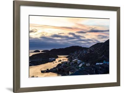 Sunset Falls over an Arctic Fishing Village on a Rugged Island-Jason Edwards-Framed Photographic Print