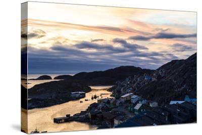 Sunset Falls over an Arctic Fishing Village on a Rugged Island-Jason Edwards-Stretched Canvas Print