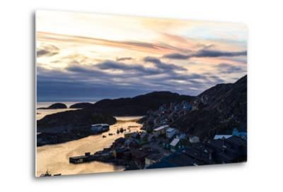 Sunset Falls over an Arctic Fishing Village on a Rugged Island-Jason Edwards-Metal Print