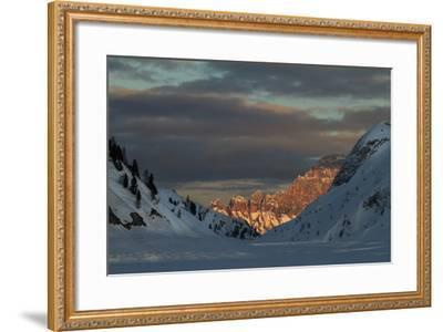 A View of Sunlight Illuminating Civetta from the Foot of the Marmolada Glacier-Ulla Lohmann-Framed Photographic Print