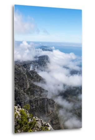Clouds Fill the Valleys and Gorges of a Coastal Mountain Range Overlooking the Ocean-Jason Edwards-Metal Print