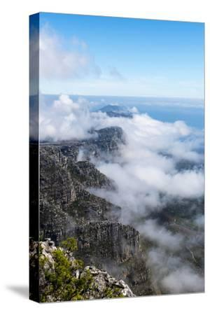 Clouds Fill the Valleys and Gorges of a Coastal Mountain Range Overlooking the Ocean-Jason Edwards-Stretched Canvas Print