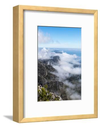 Clouds Fill the Valleys and Gorges of a Coastal Mountain Range Overlooking the Ocean-Jason Edwards-Framed Photographic Print