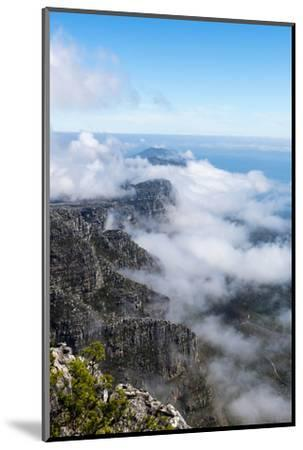 Clouds Fill the Valleys and Gorges of a Coastal Mountain Range Overlooking the Ocean-Jason Edwards-Mounted Photographic Print