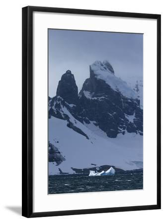 Icebergs and Mountains Near Cuverville Island, Antarctica-Ralph Lee Hopkins-Framed Photographic Print
