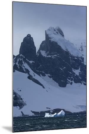 Icebergs and Mountains Near Cuverville Island, Antarctica-Ralph Lee Hopkins-Mounted Photographic Print