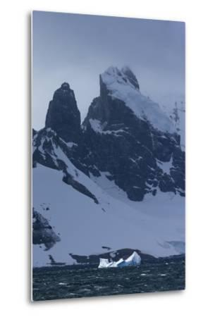 Icebergs and Mountains Near Cuverville Island, Antarctica-Ralph Lee Hopkins-Metal Print