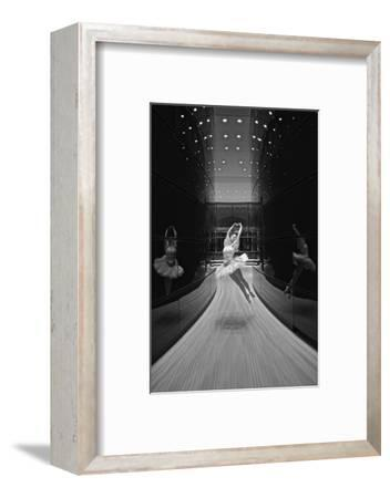 A Ballerina Dancing in the New Edward P. Evans Hall at Yale University-Kike Calvo-Framed Photographic Print