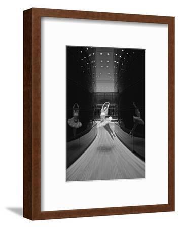 A Ballerina Dancing in the New Edward P. Evans Hall at Yale University-Kike Calvo-Framed Premium Photographic Print