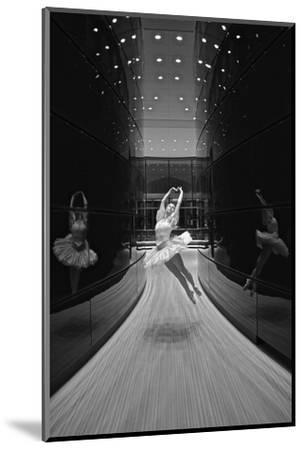 A Ballerina Dancing in the New Edward P. Evans Hall at Yale University-Kike Calvo-Mounted Premium Photographic Print