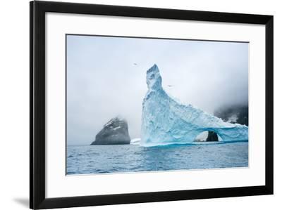 A Sculpted Iceberg Near Elephant Island, Antarctica-Ralph Lee Hopkins-Framed Photographic Print