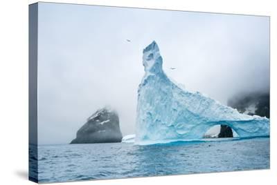 A Sculpted Iceberg Near Elephant Island, Antarctica-Ralph Lee Hopkins-Stretched Canvas Print