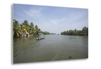 A Wide Angle View of the Backwaters in Southern India-Kelley Miller-Metal Print