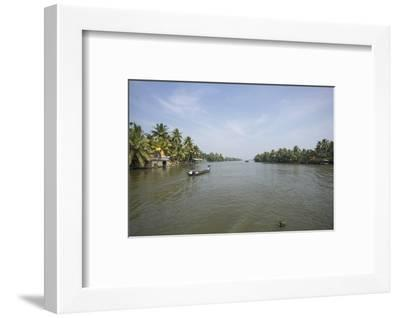 A Wide Angle View of the Backwaters in Southern India-Kelley Miller-Framed Photographic Print