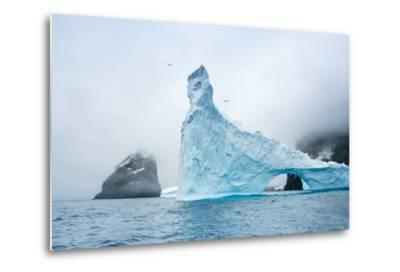 A Sculpted Iceberg Near Elephant Island, Antarctica-Ralph Lee Hopkins-Metal Print