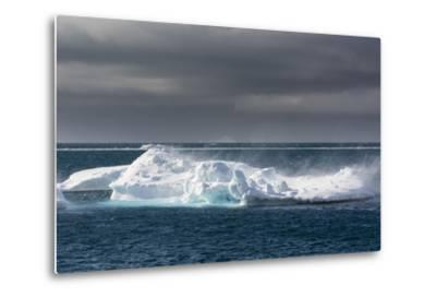 Wind Blowing over the Top of an Iceberg-Sergio Pitamitz-Metal Print