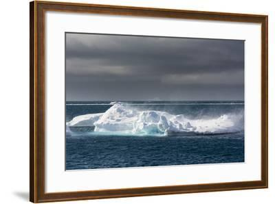 Wind Blowing over the Top of an Iceberg-Sergio Pitamitz-Framed Photographic Print
