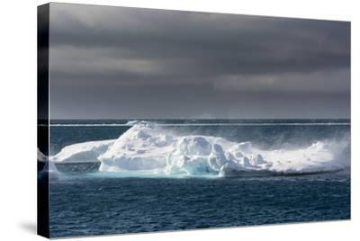 Wind Blowing over the Top of an Iceberg-Sergio Pitamitz-Stretched Canvas Print