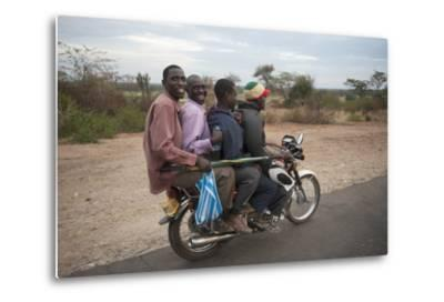 A Motorcycle Taxi Near the Town of Kasese in Uganda-Joel Sartore-Metal Print