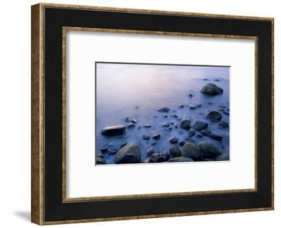 Surf Washes Through Rocks on the Shore-Paul Colangelo-Framed Photographic Print