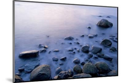 Surf Washes Through Rocks on the Shore-Paul Colangelo-Mounted Photographic Print