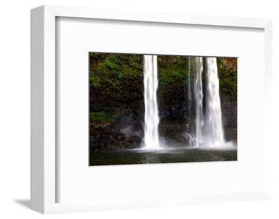 A Man Stands under Wailua Falls-Ben Horton-Framed Photographic Print