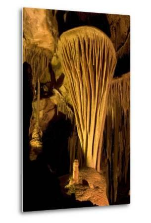 Rock Formation, the Parachute, Inside Lehman Caves in Great Basin National Park-Phil Schermeister-Metal Print
