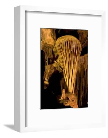 Rock Formation, the Parachute, Inside Lehman Caves in Great Basin National Park-Phil Schermeister-Framed Photographic Print