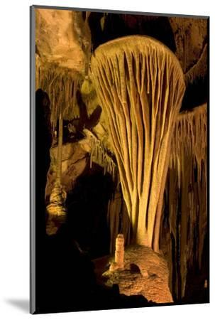 Rock Formation, the Parachute, Inside Lehman Caves in Great Basin National Park-Phil Schermeister-Mounted Photographic Print
