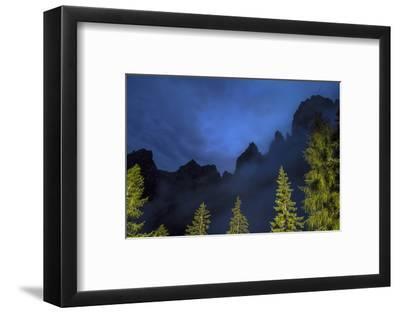 The Pala Di San Martino Peaks at Night-Ulla Lohmann-Framed Photographic Print