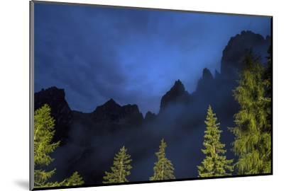 The Pala Di San Martino Peaks at Night-Ulla Lohmann-Mounted Photographic Print
