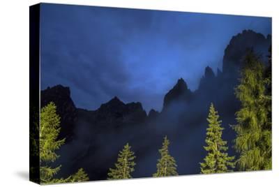 The Pala Di San Martino Peaks at Night-Ulla Lohmann-Stretched Canvas Print
