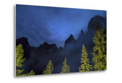 The Pala Di San Martino Peaks at Night-Ulla Lohmann-Metal Print