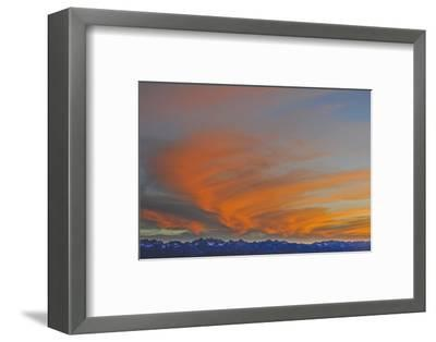 Sunset over the Palisade Region of the Eastern Sierra Nevada, Above the Owens Valley-Gordon Wiltsie-Framed Photographic Print