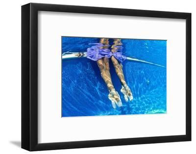 Ballerinas Dancing Underwater in a Swimming Pool-Kike Calvo-Framed Premium Photographic Print