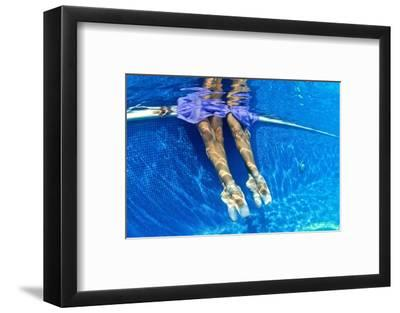 Ballerinas Dancing Underwater in a Swimming Pool-Kike Calvo-Framed Photographic Print