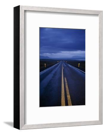 A Well Marked Road Leading to Thingvellir and Lake Thingvallavatn-Macduff Everton-Framed Photographic Print