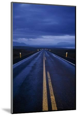 A Well Marked Road Leading to Thingvellir and Lake Thingvallavatn-Macduff Everton-Mounted Photographic Print
