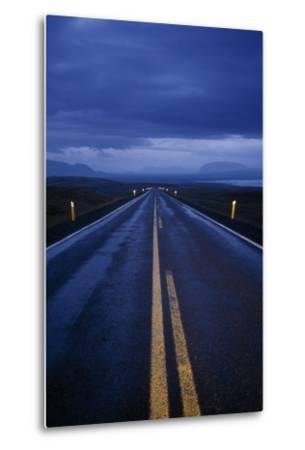 A Well Marked Road Leading to Thingvellir and Lake Thingvallavatn-Macduff Everton-Metal Print