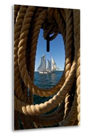 The Taber, the Oldest Documented Sailing Vessel in Continuous Service in the United States-Kike Calvo-Metal Print