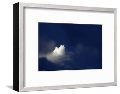 A Golden Dusting of Sahara Desert Sand on a Lump of Snow at 2,500 Meters-Ulla Lohmann-Framed Photographic Print