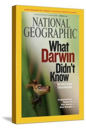 Cover of the February, 2009 National Geographic Magazine-Mattias Klum-Stretched Canvas Print
